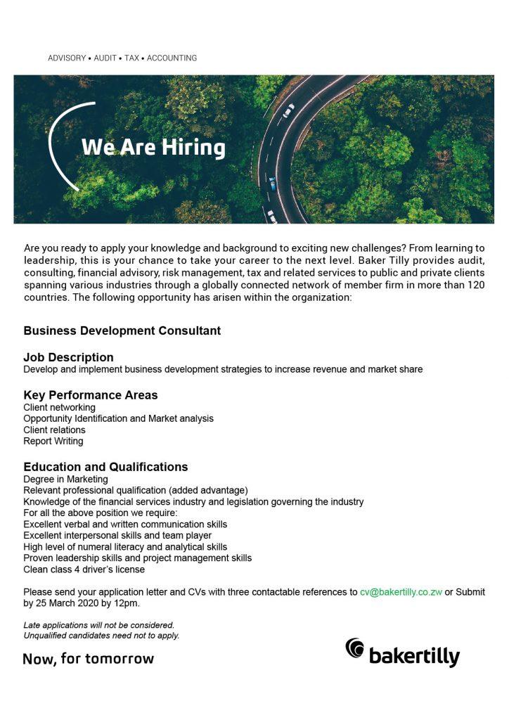 Vacancy 2020 Business Development Consultant-01